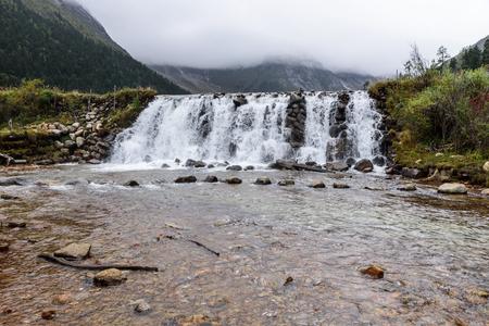 waterfall landscape view 写真素材