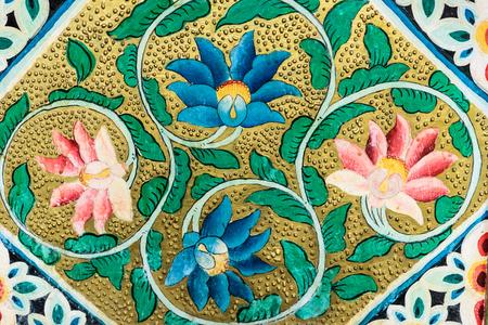 Muurschildering in een tempel Redactioneel