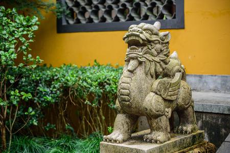 寺院の動物像 写真素材