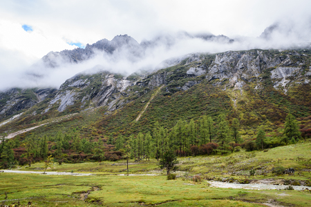 mountain range landscape view