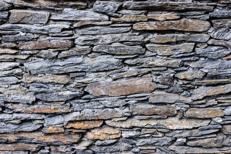 The stone wall texture