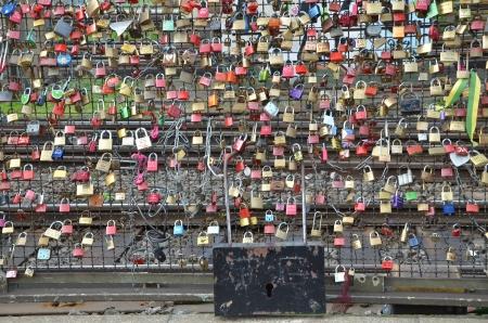 Wall of locks photo