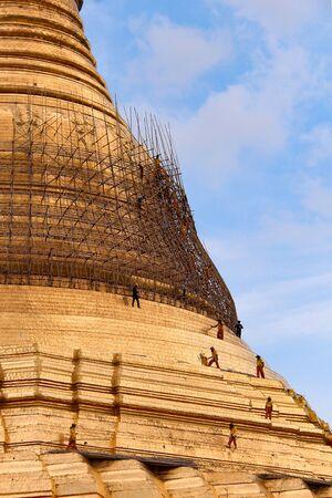 Shandong Pagoda in Yangon, Myanmar. Imagens