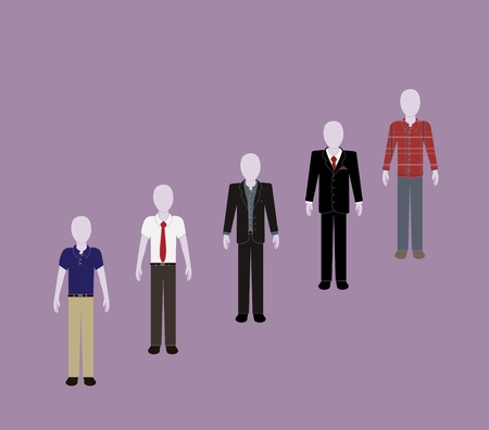 dress code: business hierarchy Illustration