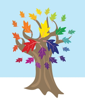 Color wheel tree Stock Vector - 12018912