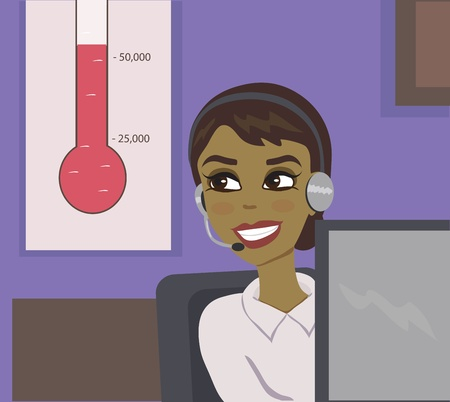 call center agent: operator with a goal