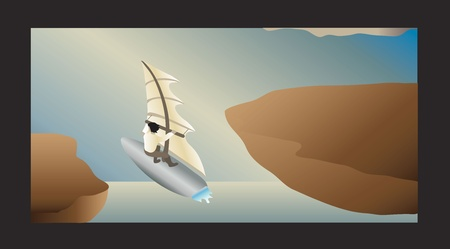 fantasy air windsurfer Vector
