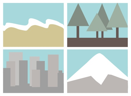 destination icon set Illustration