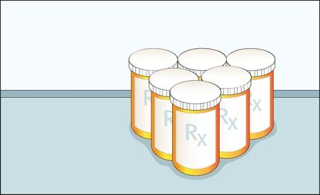 prescription bottles: prescription bottles
