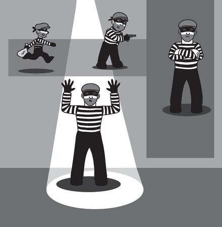 disfrazados: penal en diferentes poses