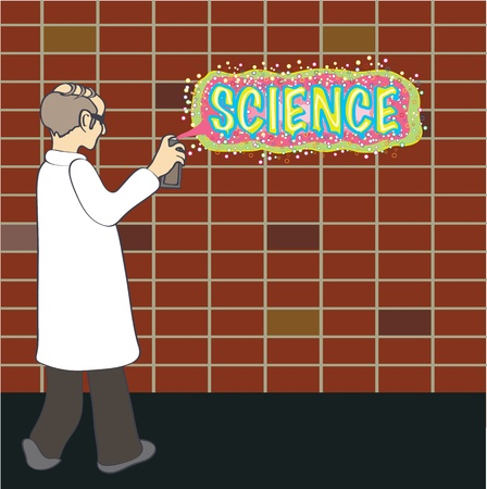 science graffiti Vector