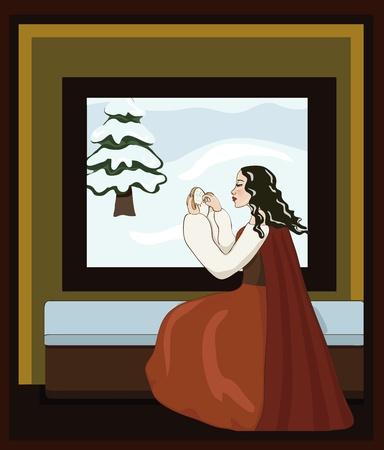 Snow White s Mother Illustration