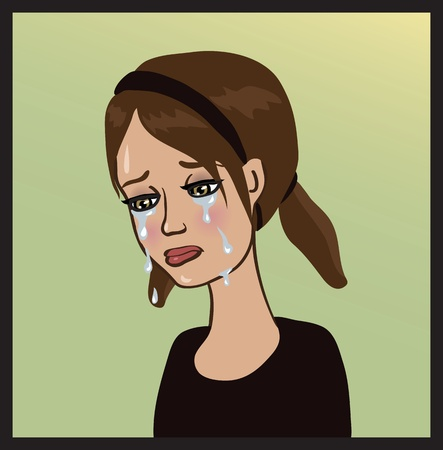 teen crying girl