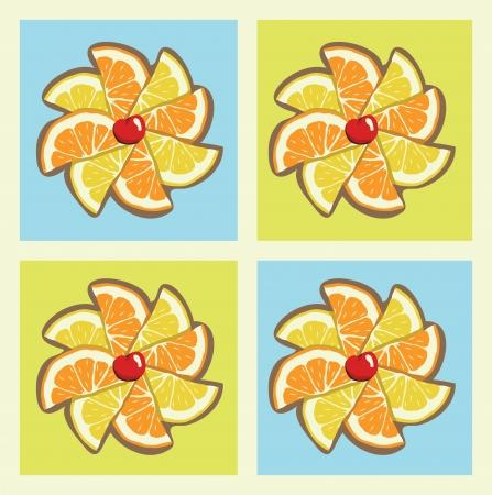 柑橘類の風車