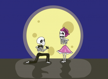 Skeleton Preposal Stock Vector - 13776634