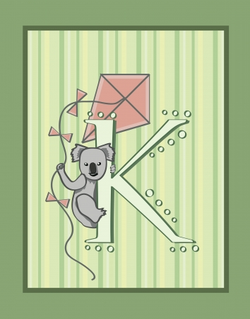 K is for koala and kite