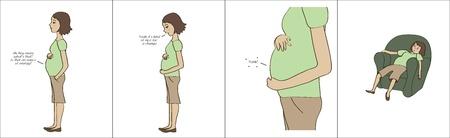 mom s エネルギーを取って赤ん坊  イラスト・ベクター素材