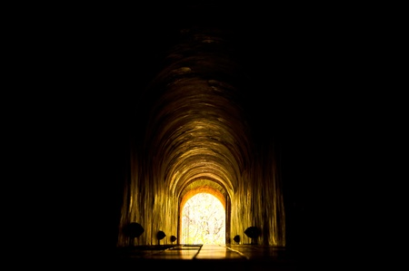 underpass: Light at the end of the tunnel Stock Photo
