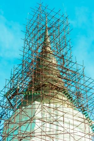 Pagada under Construction Thai architecture stlye