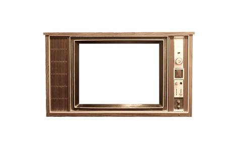Old vintage television frame in white back ground