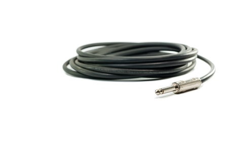 audio cable isolate on white background