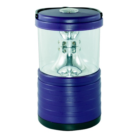 blue electric lantern isolate on white background Stock Photo