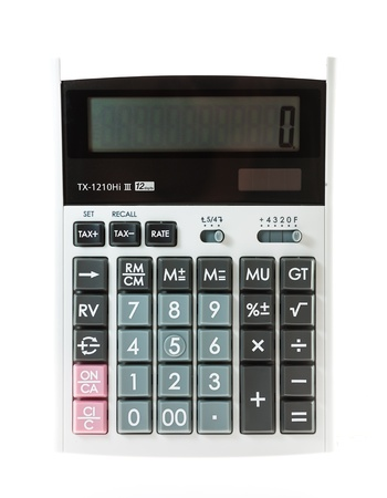 calculator on white background isolate Stock Photo