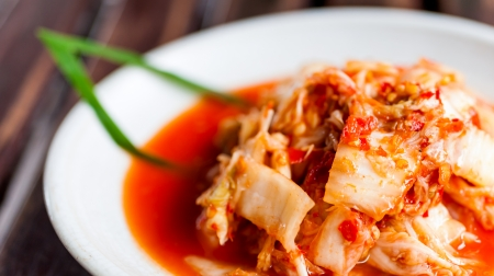 Kimchi salad of korean food traditional Stock Photo