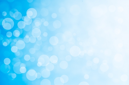 Samenvatting van bokeh effect op blauwe achtergrond