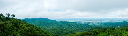 panorama of mountain in thailand with cloudy photo