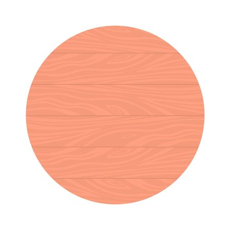 Round background made of horizontal wooden boards. Vector isolated illustration. Ilustrace