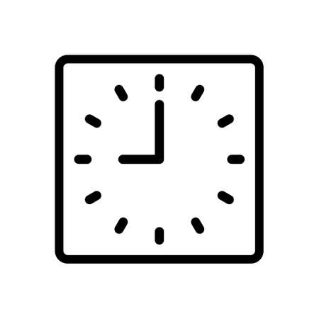 Watch dial on a white background. Vector isolated illustration icon