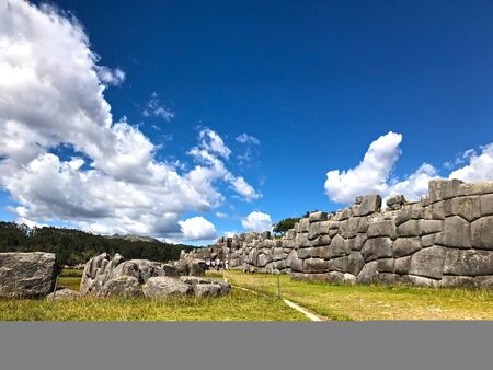 The Inca ruins of Sacsayhuaman on the outskirts of Cusco, Peru
