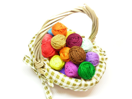 Baskets and wool