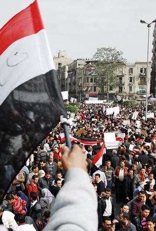 masr: CAIRO - FEB 1: Egyptian anti-government protesters gather in Cairo