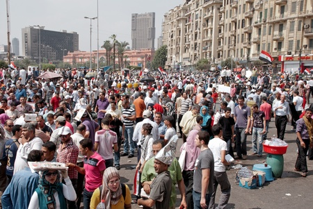 CAIRO - SEPTEMBER 9: Thousands of Egyptians converged on Cairo's Tahrir Square on Friday to demand reforms in a turnout dubbed