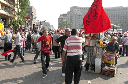 CAIRO - SEPTEMBER 9: Crowds of Egyptians converged on Cairo Stock Photo - 10559340