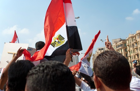 CAIRO - SEPTEMBER 9: Thousands of Egyptians converged on Cairo Stock Photo - 10559329