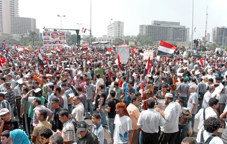 converged: Thousands of Egyptians converged on Cairos Tahrir Square on Friday to demand reforms in a turnout dubbed correcting the path of the revolution.  Cairo, September 9, 2011