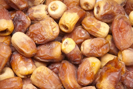 Dried date served during Ramadan in Islamic countries photo