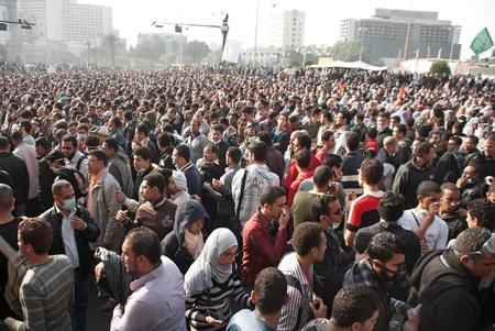 CAIRO � NOVEMBER 22:  Egyptian protesters gather in Tahrir square. Cairo, November 22, 2011