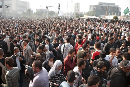 CAIRO – NOVEMBER 22:  Egyptian protesters gather in Tahrir square. Cairo, November 22, 2011