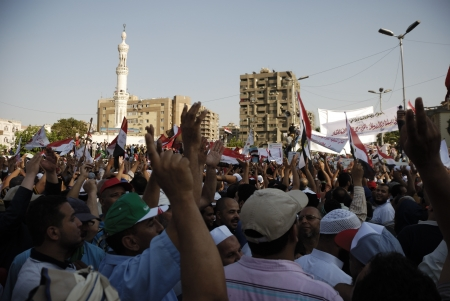 muhammed: CAIRO - JUNE 21: More than two millions people (FJP estimates) from different Islamist parties gathered in Rabaa el-Adawia Square in Nasr City, Cairo to support the president Muhammed Morsi in the event titled \No To Violence\. Cairo, Egypt on June