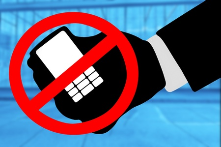phone ban: mobile phone ban in a building complex