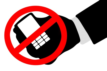 cell phones not allowed: Mobile phone ban