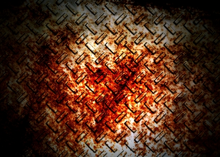 Rusted metal design photo