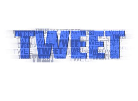 tweet: Tweet text typography design Stock Photo