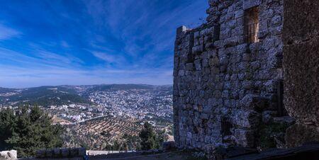 رAjloun Castle is a 12th-century Muslim castle situated in northwestern Jordan. It is placed on a hilltop belonging to the Mount Ajloun district.