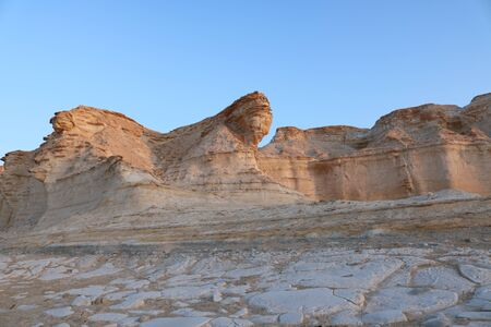Al-Dahik desert reserve is considered a museum of geological in Jordan which including assorted terrains and natural sculptured which its rare in the world and you can see like it in Brazil and Egypt only.Al-Dahik desert, Al-Mafraq - Jordan Editorial