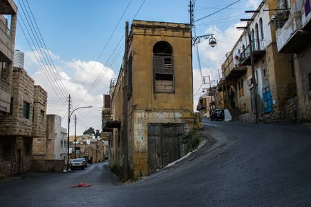 the beautiful old lanes and Suburbs in As-salt the west of Jordan Banco de Imagens